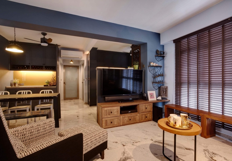 """HDB Design — TRADITIONAL CHIC @ COMPASSVALE CRESCENT - 7"""
