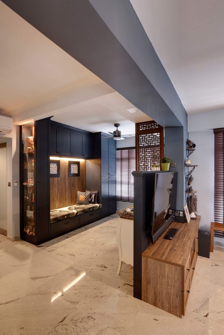 """HDB Design — TRADITIONAL CHIC @ COMPASSVALE CRESCENT - 6"""