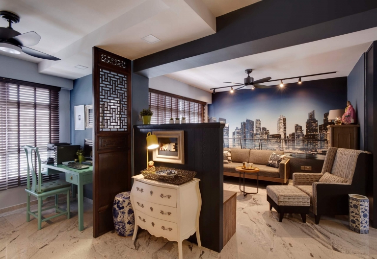 """HDB Design — TRADITIONAL CHIC @ COMPASSVALE CRESCENT - 5"""