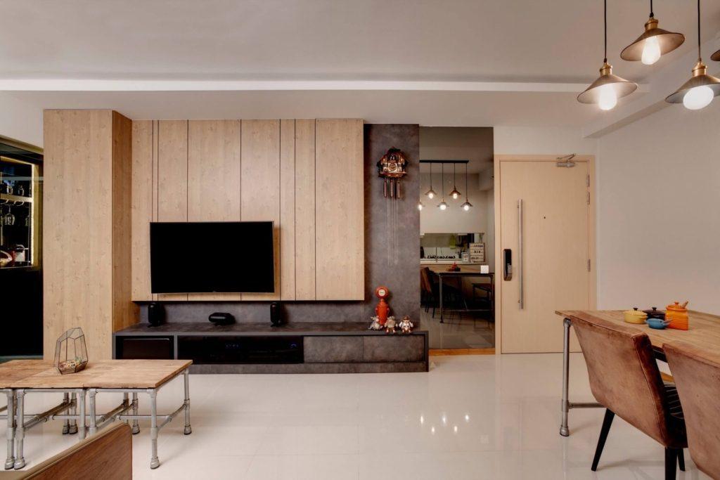 Space Factor Rustic HDB interior design