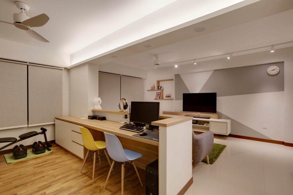 HDB interior design project sensuous simplicity living room design