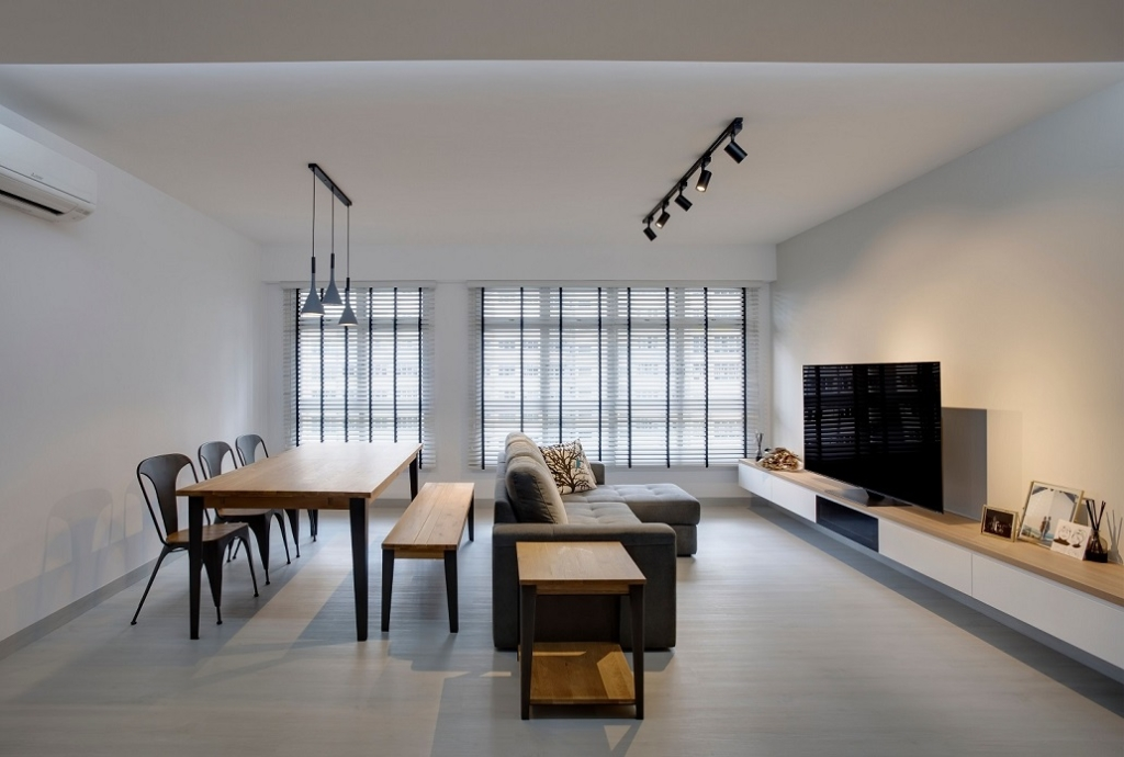 Living Swiss interior design Minimalist Interior Design at Bukit Batok West, Singapore