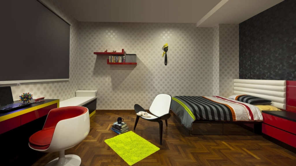 Colourful Bedroom at Joo Chiat, Singapore