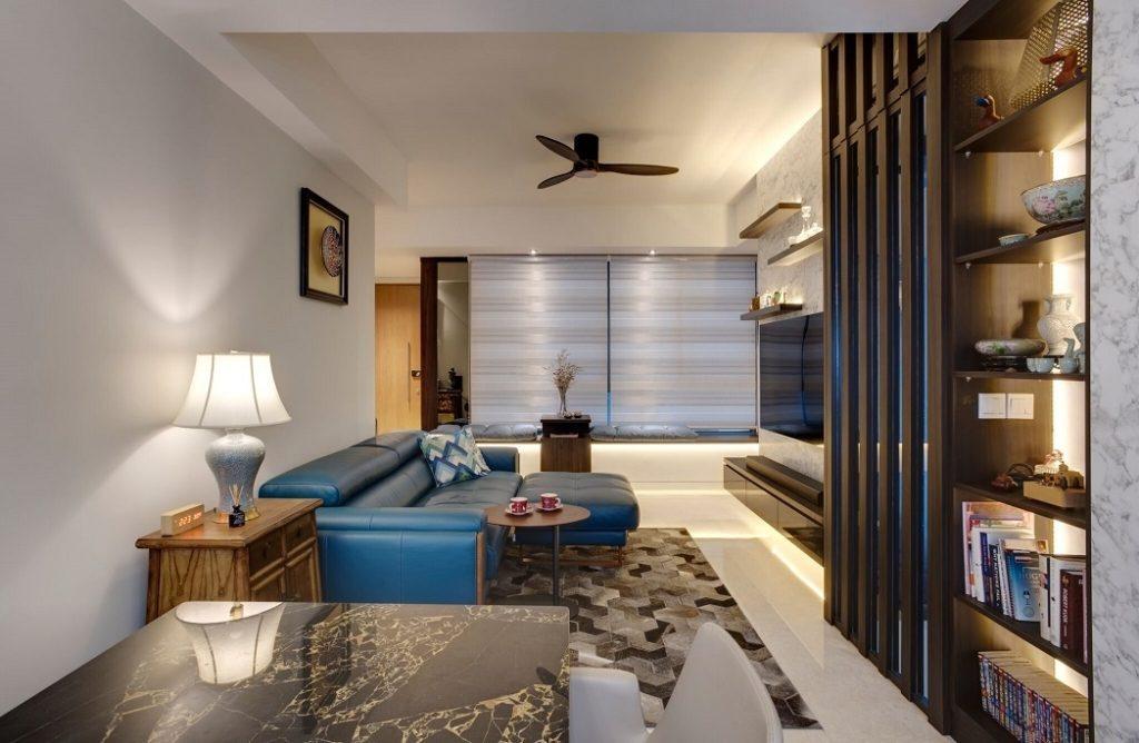 Living Room at St. Patrick Rd., Singapore Swiss interior