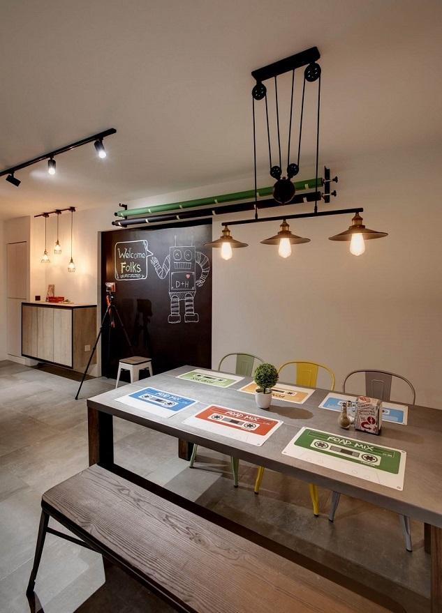 Industrial Interior Design at Fernvale Link, Singapore Swiss Interior Design